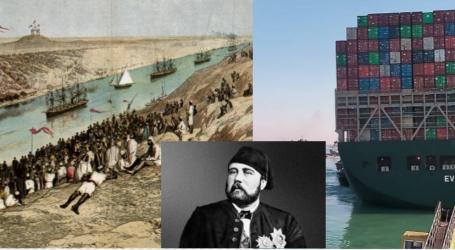 FOTO/ Kanali i Suezit. Historiku i shtegut ujor më të famshëm të botës, i cili u inaugurua nga një shqiptar