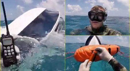 FOTO+VIDEO/ Mbeti 3 orët në ujëra plot me peshkaqenë. Zhytësi publikoi pamjet Live nga çasti kur i'u mbyt barka