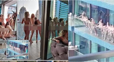 FOTO+VIDEO/ Nami në Dubai! Modelet dalin lakuriq nëpër ballkone… por e pësojnë