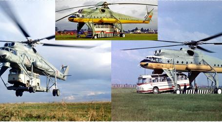 FOTO/ Në Rusi kur autobusi është me 'vonesë', merr helikopterin… Njihuni me 'bishën' Mi-10 që mbante superngarkesa